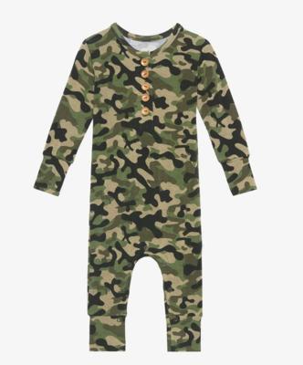 Cadet - Long Sleeve Henley Romper