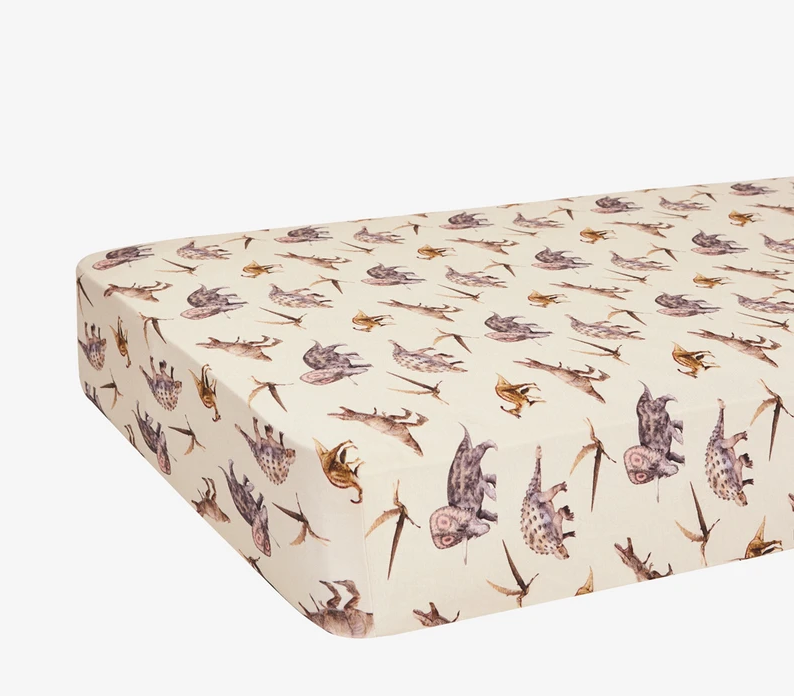 Vintage Dino - Crib Sheet