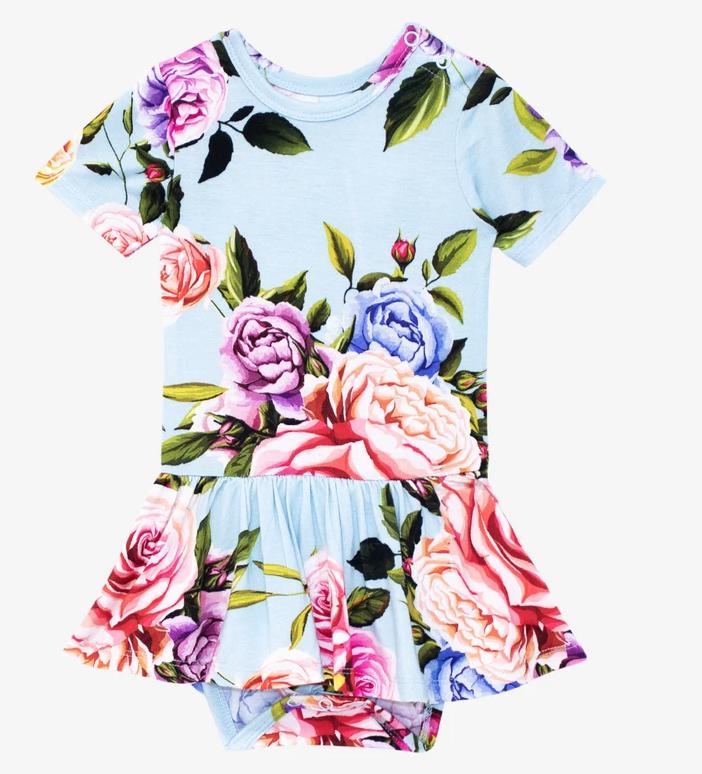 Country Rose - Short Sleeve Twirl Skit Bodysuit