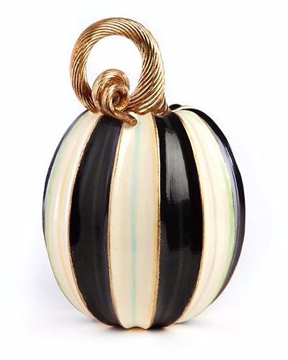 Elegant Stripe Pumpkin - Tall