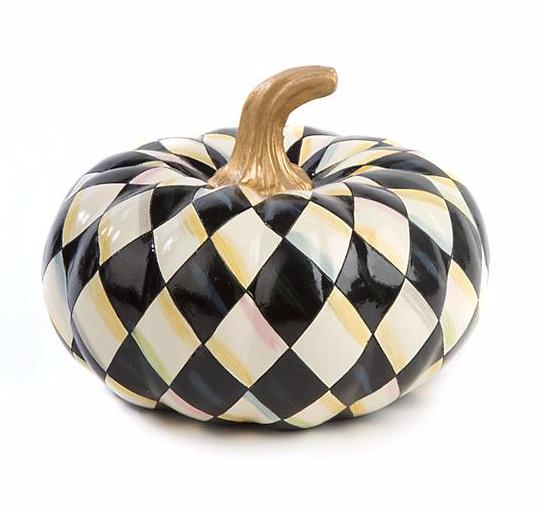 Courtly Harlequin Squashed Pumpkin