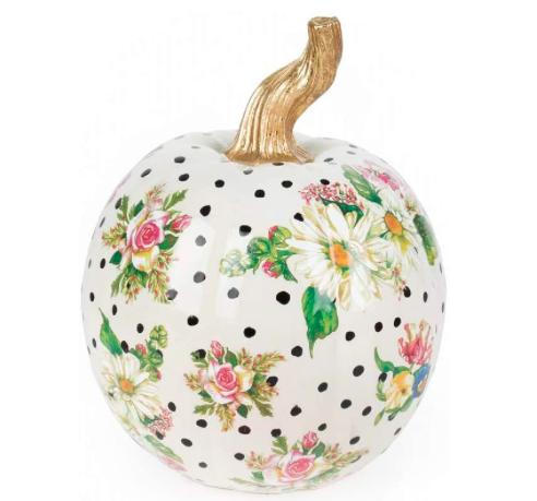 Flower Market Pumpkin Small White