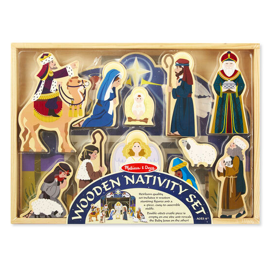 Wooden Nativity Set #3858