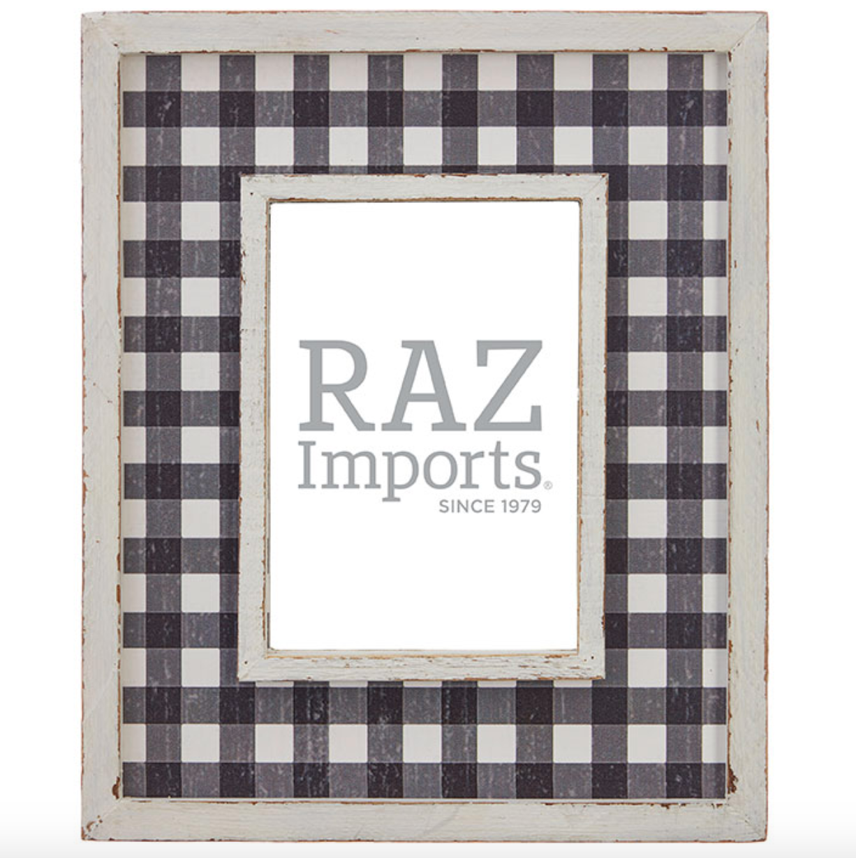 """11"""" Checked Picture Frame #3959061"""