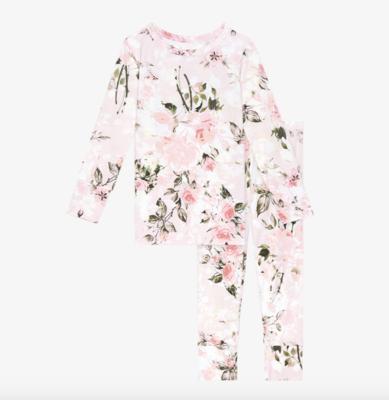 Vintage Pink Rose - Long Sleeve Basic Loungewear