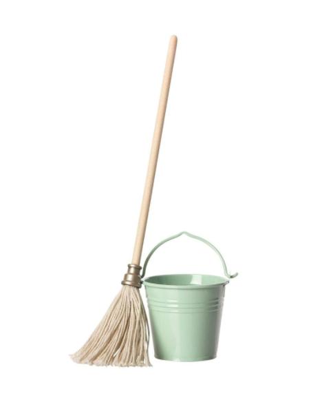 Miniature Bucket  & Mop