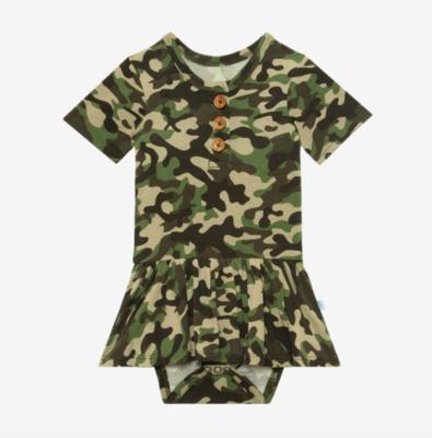 Cadet - Short Sleeve Henley Twirl Skirt Body Suit