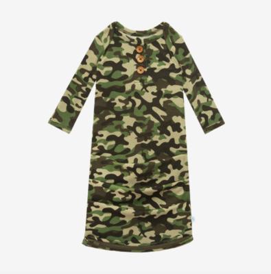 Cadet - Wood Button Zippered Gown