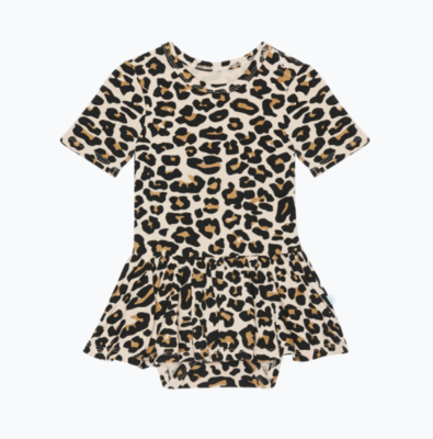 Lana Leopard - Short Sleeve w/ Twirl Skirt