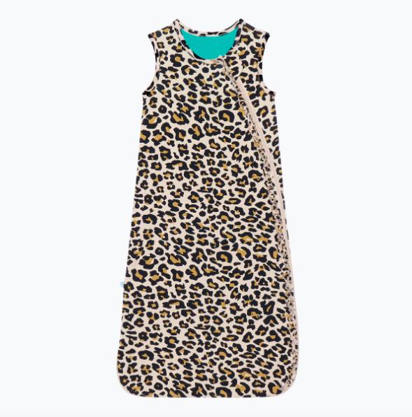 Lana Leopard - .5 Tog Sleeveless Ruffled Sleep Bag
