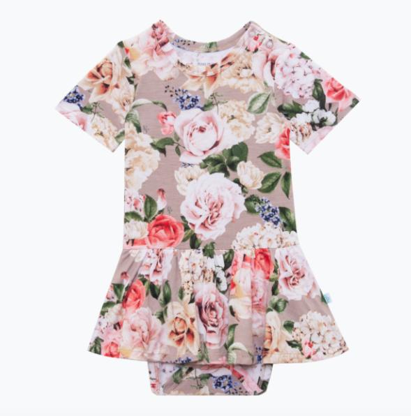 Cassie Short Sleeve Twirl Skirt Body Suit