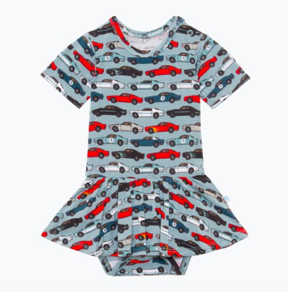Miles - Short Sleeve Basic w/ Twirl Skirt Bodysuit