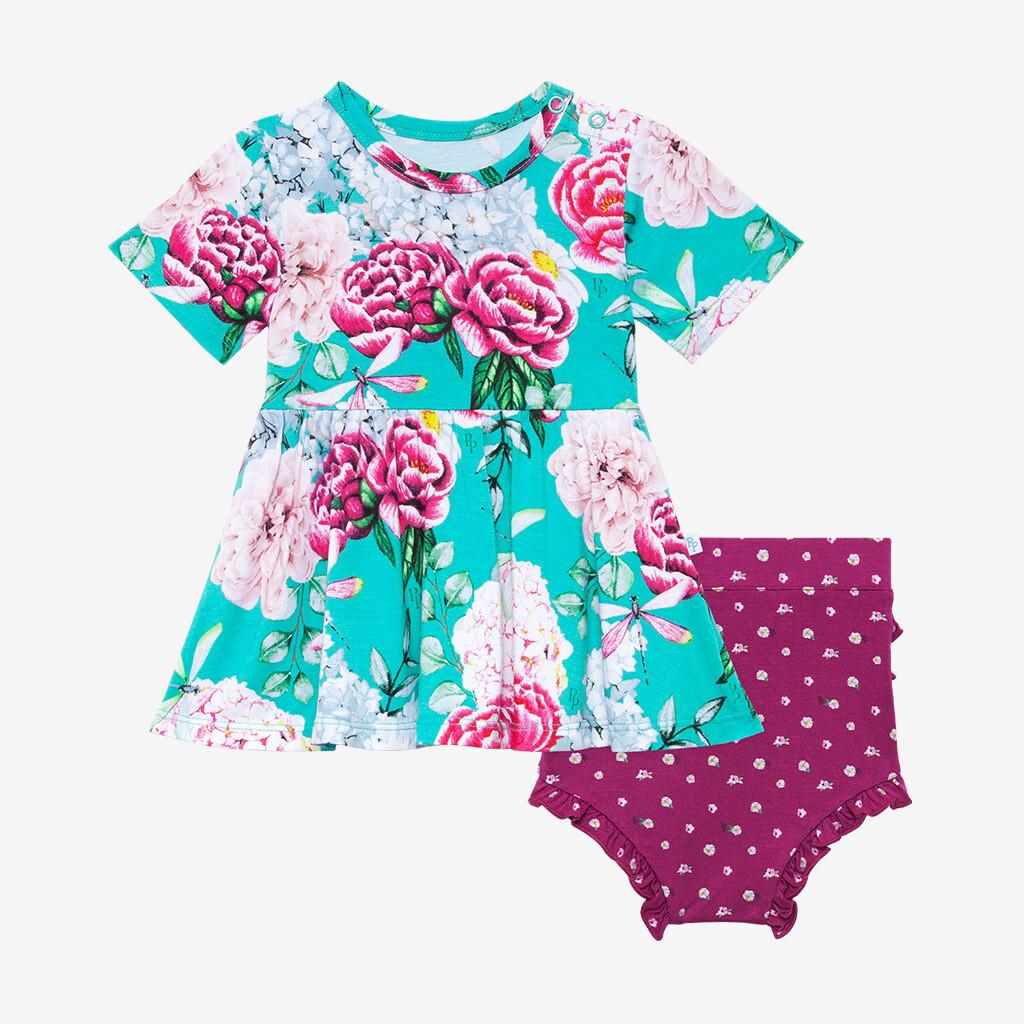 Eloise - Short Sleeve Basic Peplum Top & Bloomer