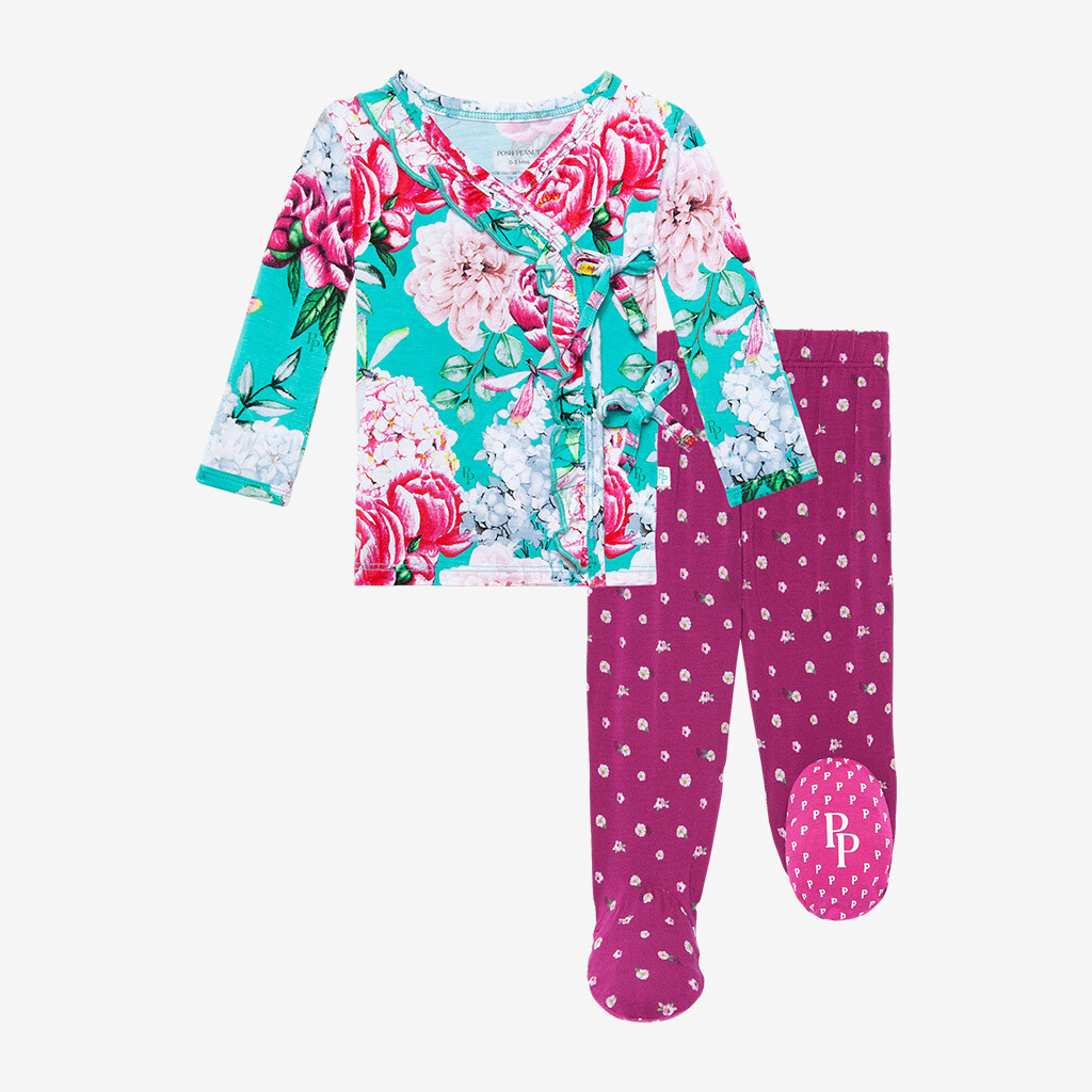 Eloise - Tie Front Ruffled Kimono