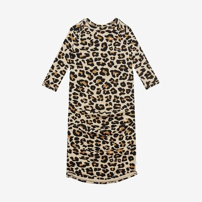 Lana Leopard - Basic Zippered Gown