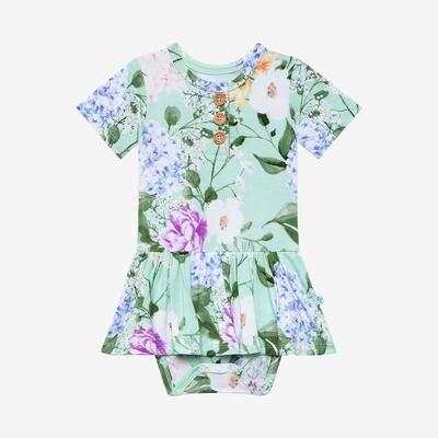 Erin - Short Sleeve Henley Twirl Skirt Bodysuit