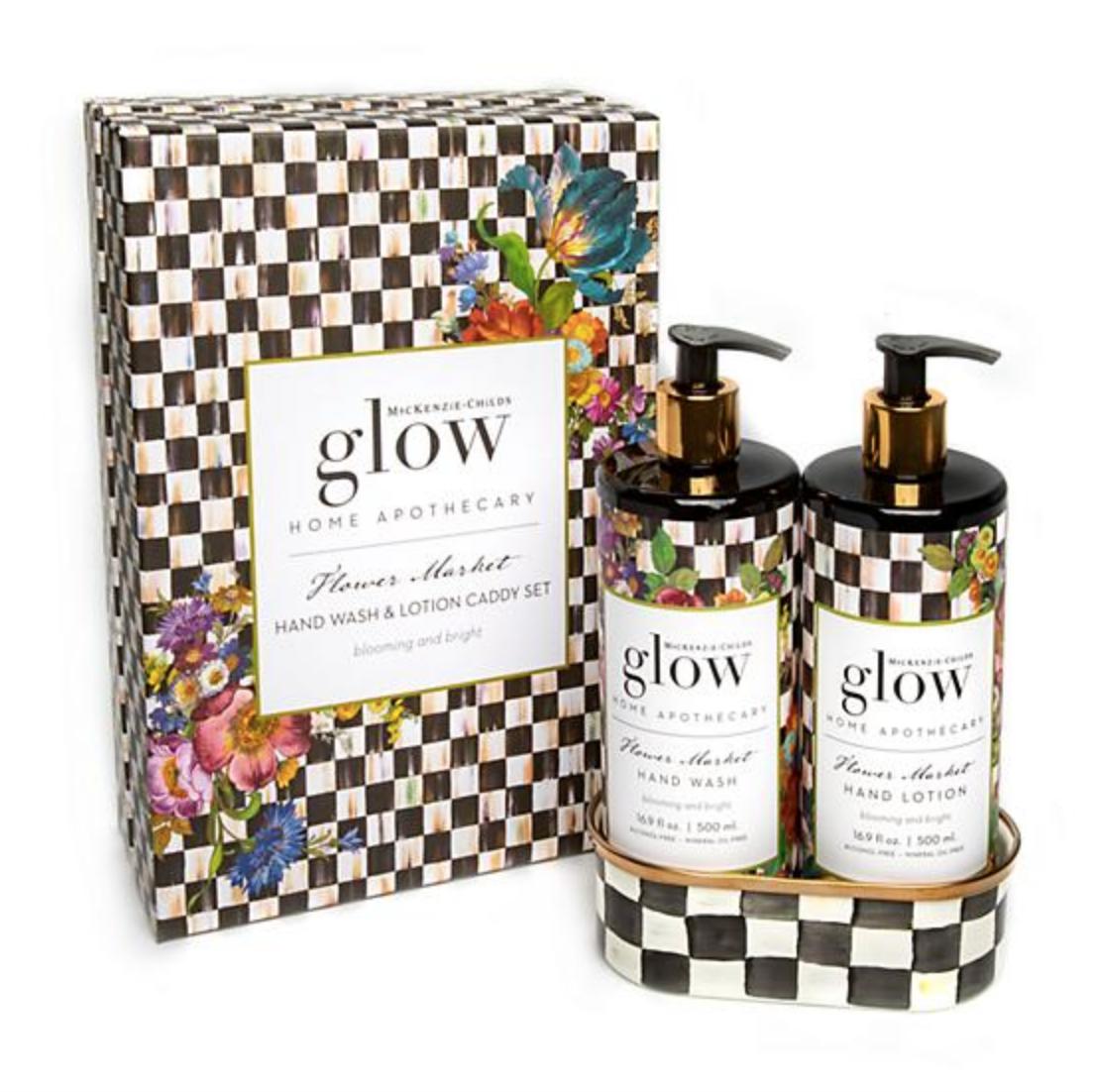 Flower Market Soap & Lotion Caddy Set