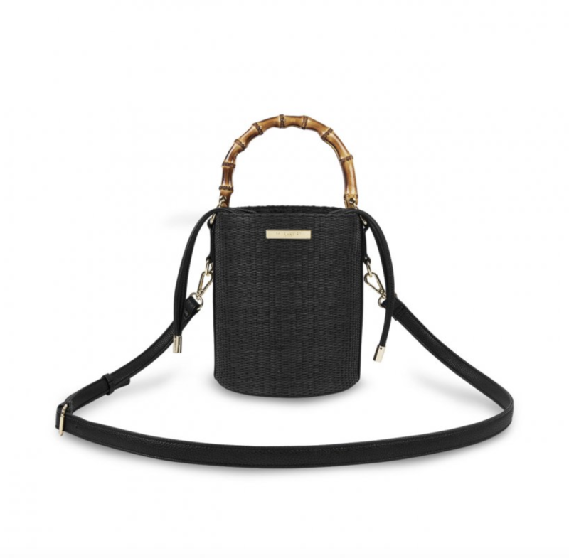 Jourdan Cylinder Bamboo Straw Purse