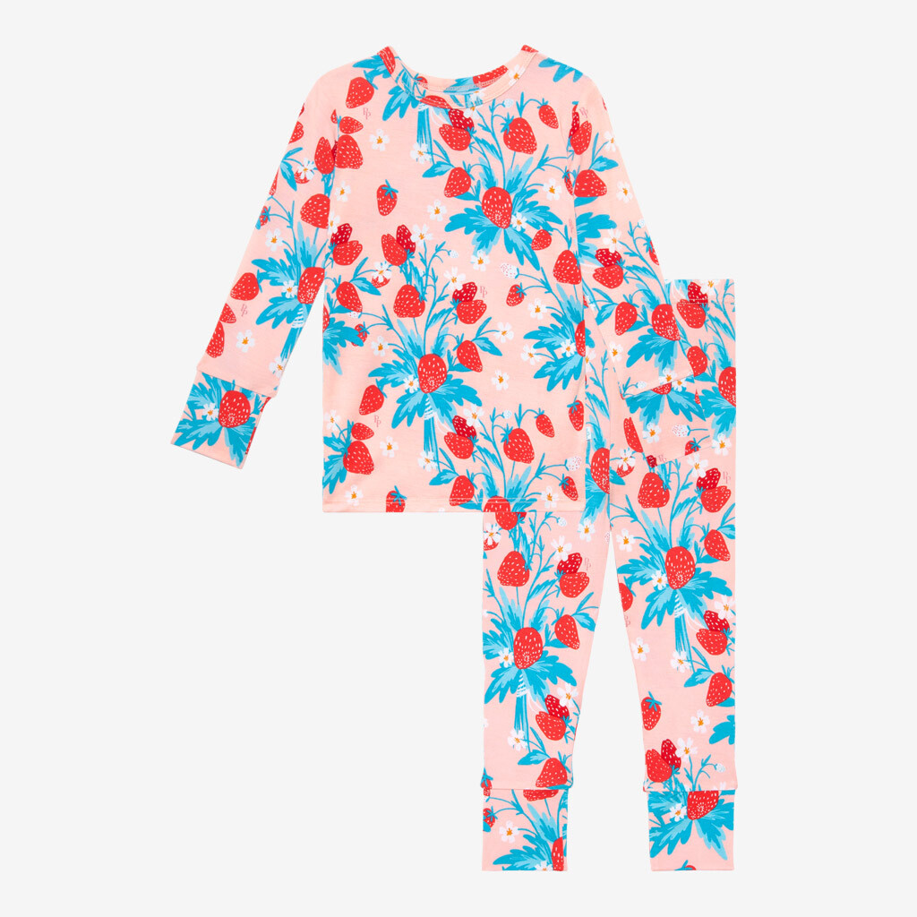 Strawberry - Long Sleeve Basic PJs