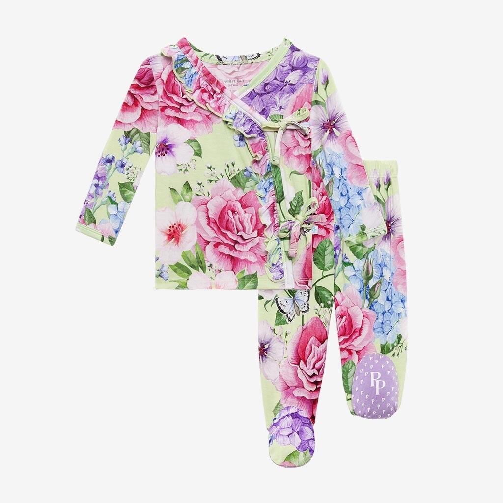 Georgina - Tie Front Ruffled Kimono