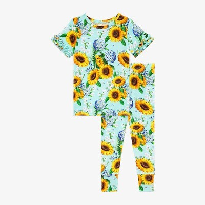 Sunny - Short Sleeve Micro Ruffled Pjs