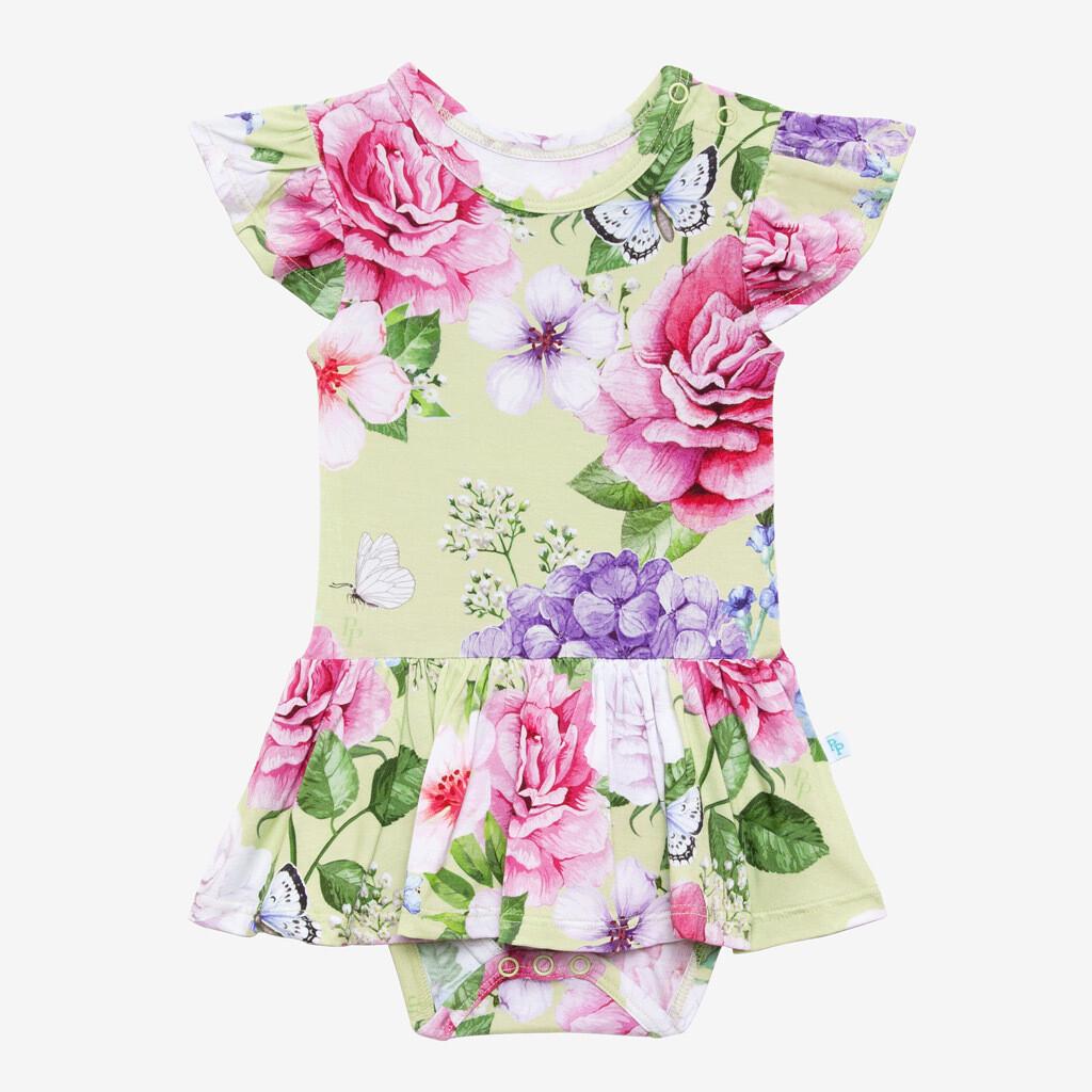 Georgina - CapSleeve Twirl Skirt Bodysuit