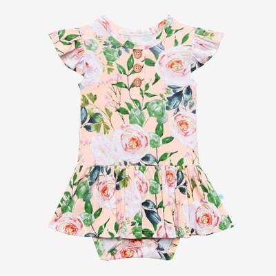 Harper - Ruffled CapSleeve Twirl Skirt Bodysuit