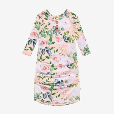 Harper - Wood Button Zippered Gown