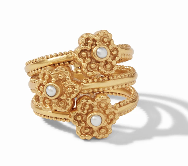 Colette Stacking Ring Gold Pearl