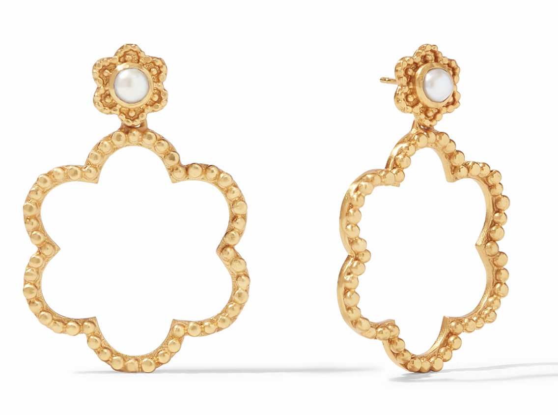 Colette Statement Earring Gold Pearl #ER655GPL00