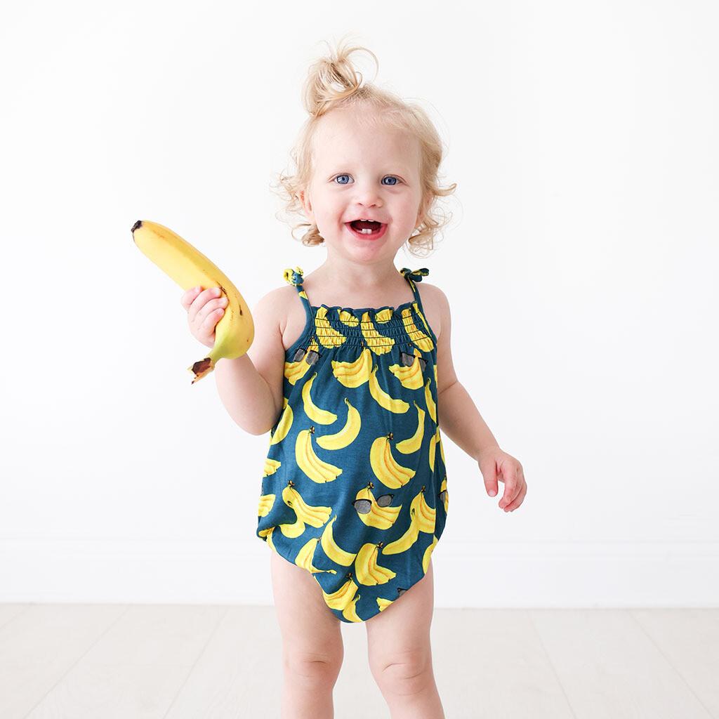 Bananas - Spaghetti Strap Bubble Romper