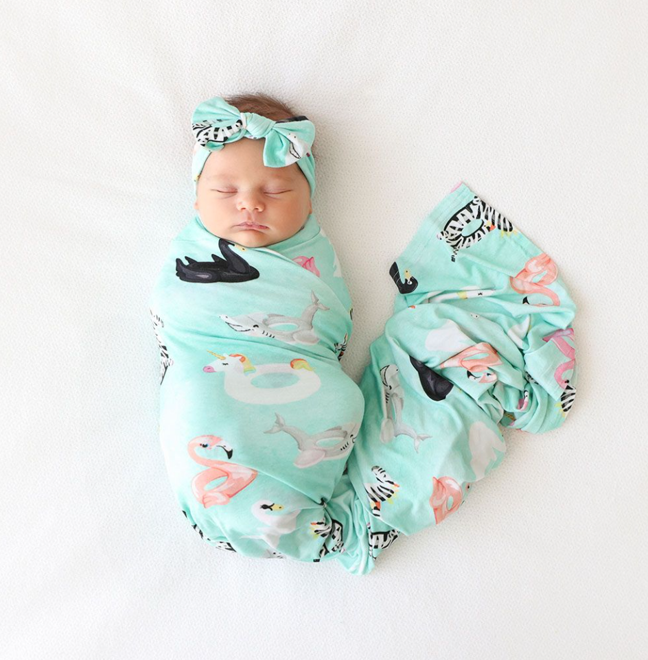 Lenny - Infant Swaddle & Headwrap Set