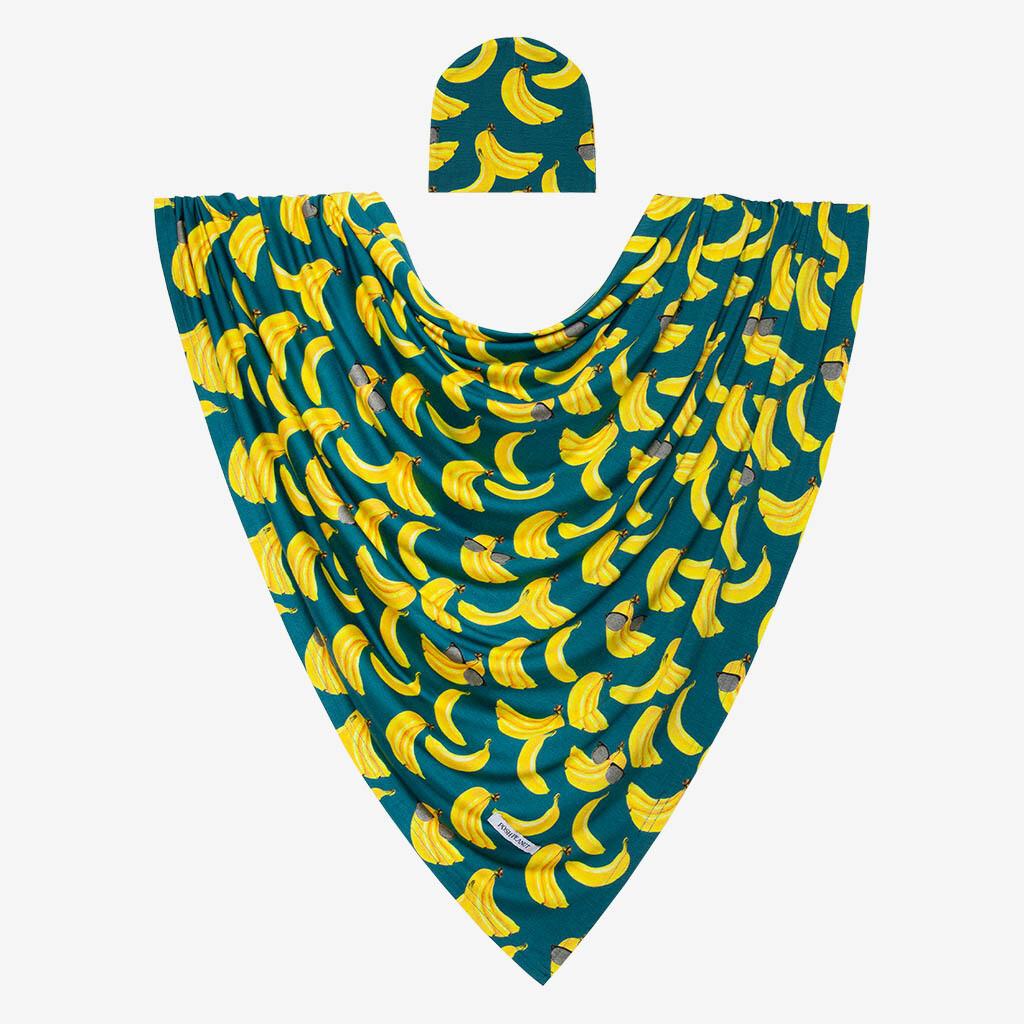 Bananas - Infant Swaddle & Beanie Set