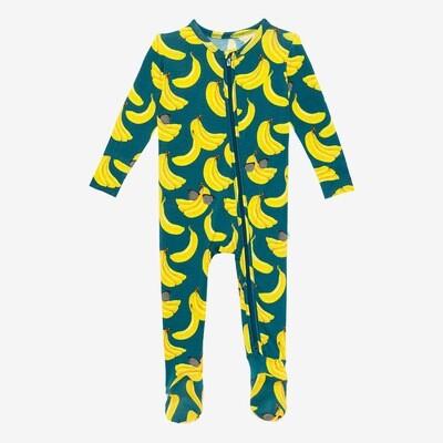 Bananas - Footie Zippered One Piece