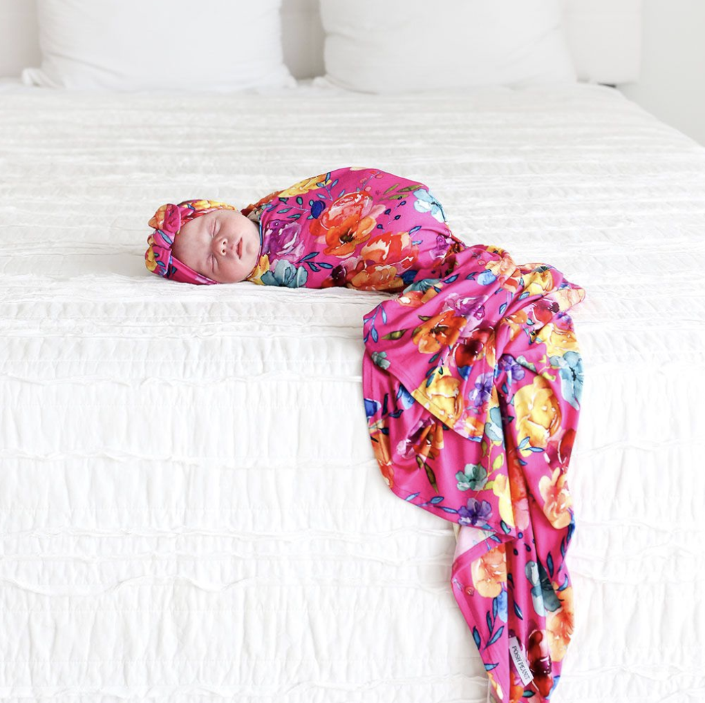 Aminatu - Infant Swaddle & Headwrap Set