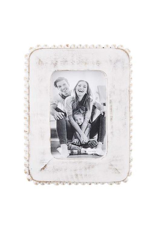 4x6 White Beaded Wood Frame #46900429S