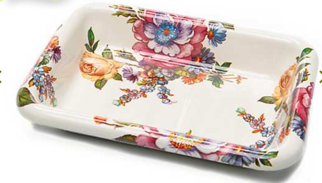 White Flower Market Simply Soap Dish
