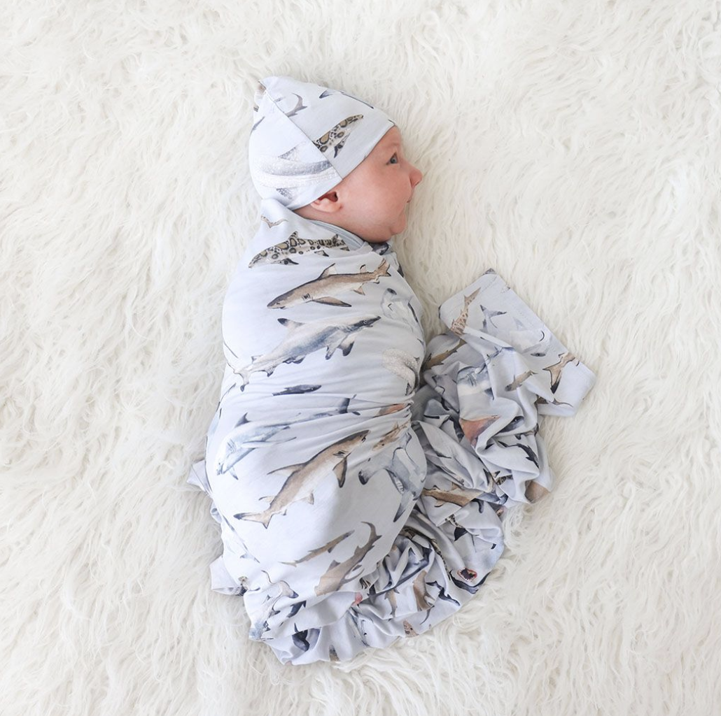 Maverick - Infant Swaddle & Beanie Set