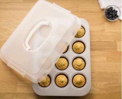 USA Muffin Pan w/ Lid Set #1200MFLD