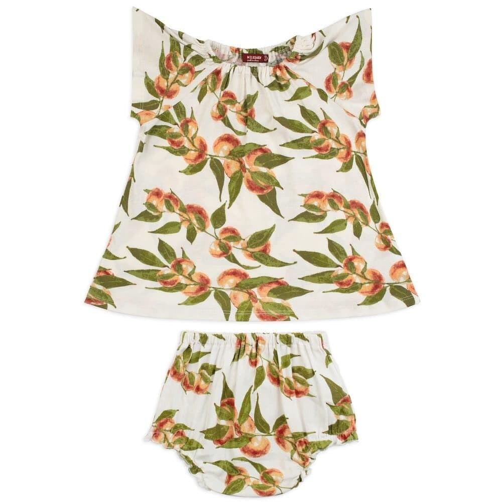 Peaches Dress & Bloomer Set