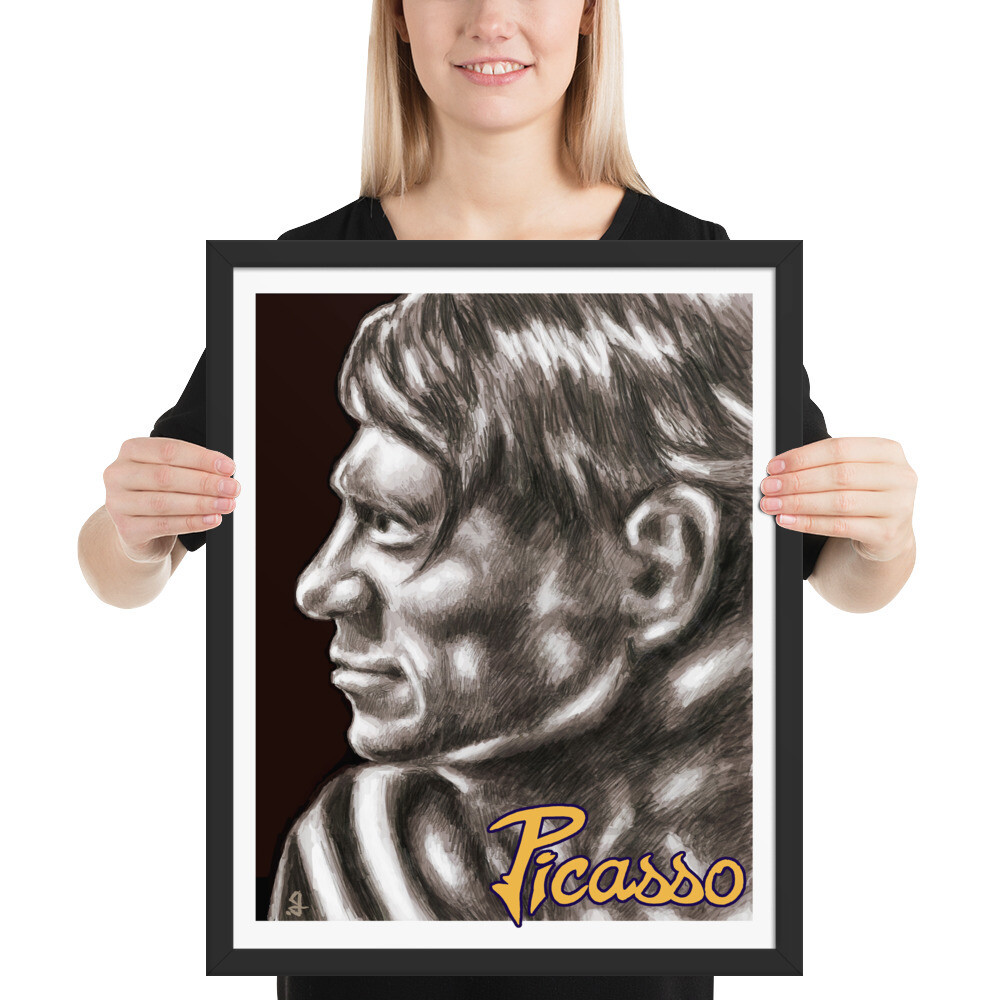 16x20 PICASSO (King of Cubism) FRAMED POSTER