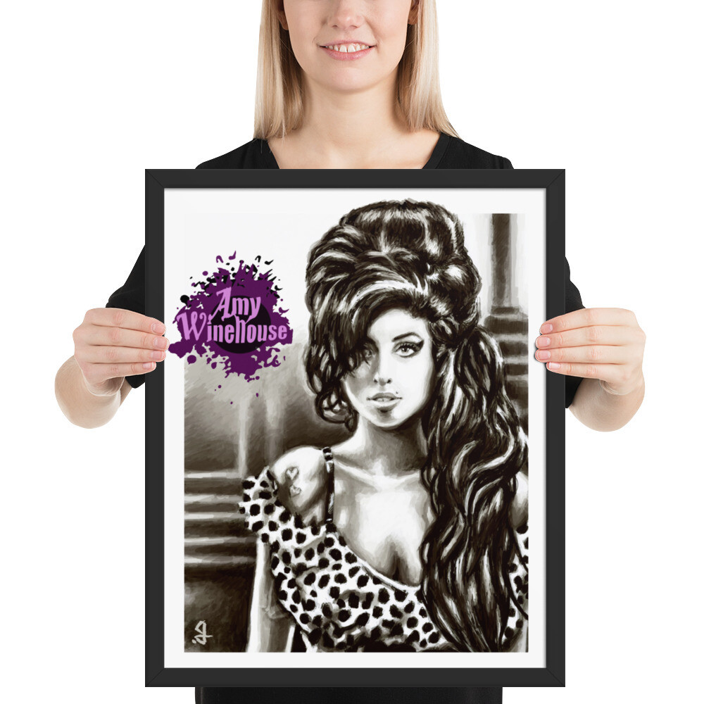 16x20 AMY WINEHOUSE FRAMED POSTER