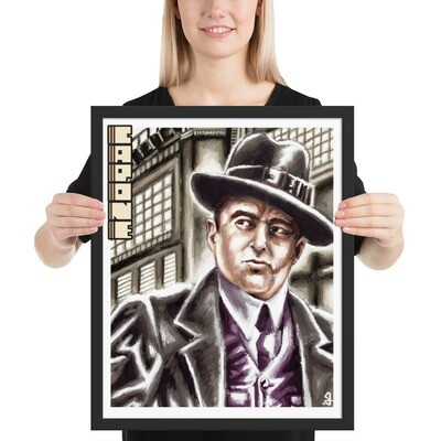 16x20 AL CAPONE FRAMED POSTER
