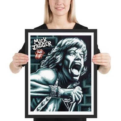 16x20 MICK JAGGER (1974) FRAMED POSTER