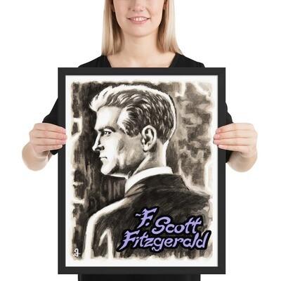16x20 F.SCOTT FITZGERALD FRAMED POSTER