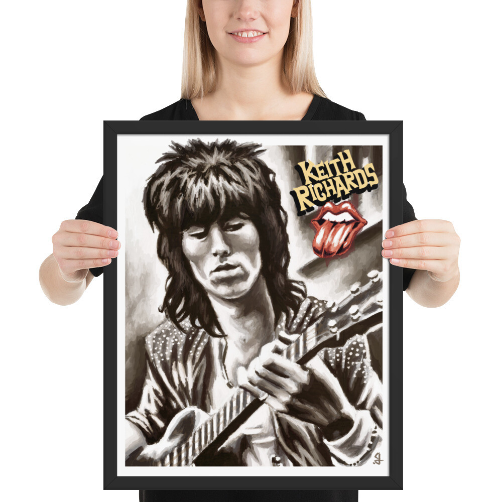 16x20 KEITH RICHARDS FRAMED POSTER