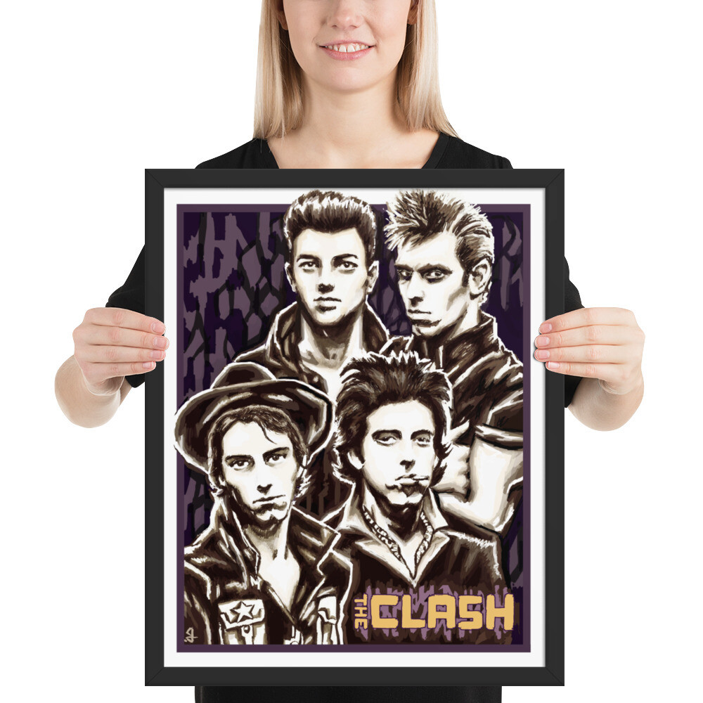 16x20 THE CLASH FRAMED POSTER