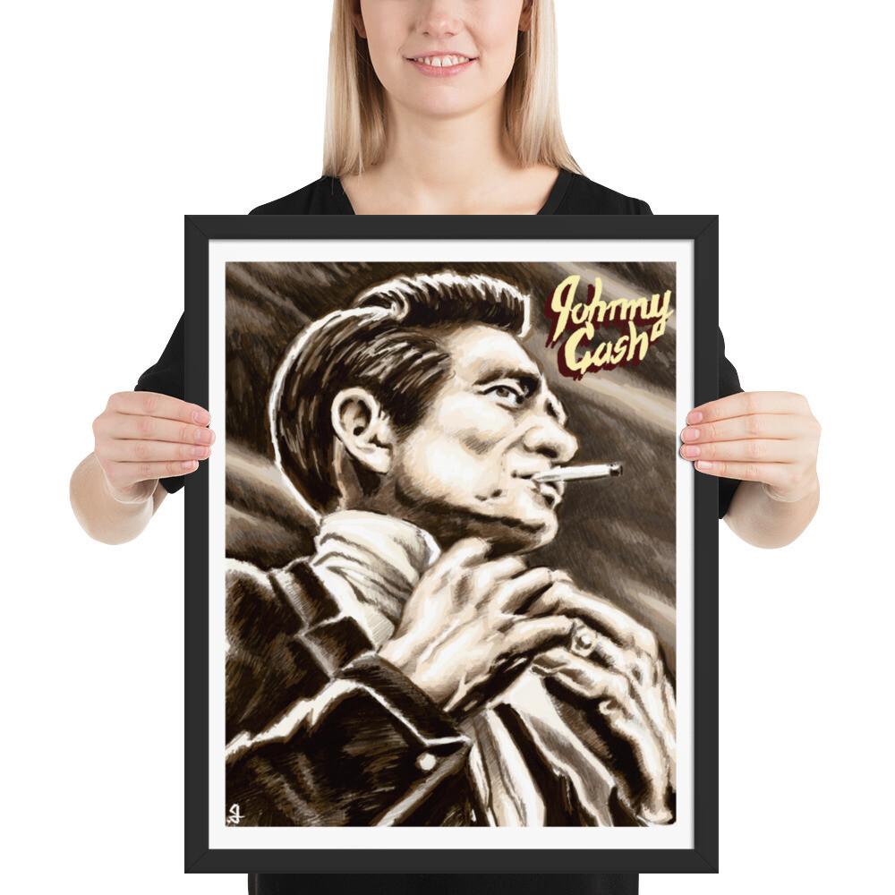 16x20 JOHNNY CASH FRAMED POSTER