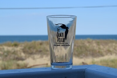 Black Pelican Pint Glass- 16oz