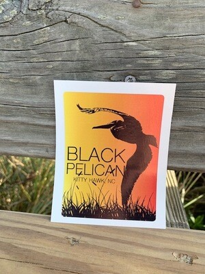 Black Pelican Sunset Sticker